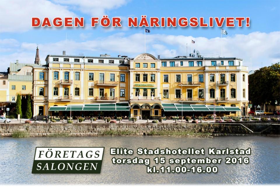 Företagssalongen. Elite Stadshotellet Karlstad  torsdag 15 september 2016  kl.11.00-16.00