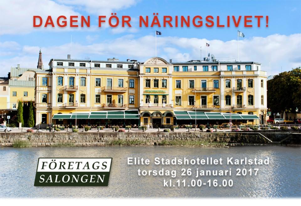 Företagssalongen. Elite Stadshotellet Karlstad  torsdag  26 januari 2017  kl.11.00-16.00